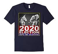 2020 Election Democrat Versus Republican Fighter T Shirt Navy