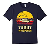 Trout Fishing Brook, Brown, Rainbow Trout Fish Gift Shirts Navy