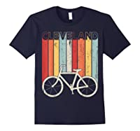 Retro Vintage Cleveland City Cycling Shirt For Cycling Lover Navy