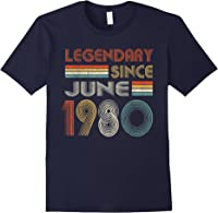Legendary Since June 1980 41st Birthday 41 Years Old T-shirt Navy