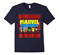 Avengers Classic Ugly Christmas Sweater Shirts Navy