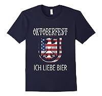 German Eagle Deutschland Us Flag Oktoberfest Shirts Navy