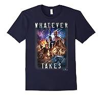 Marvel Avengers Endgame Movie Poster Whatever It Takes T-shirt Navy