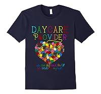 Daycare Provider Tshirt Appreciation Gift Childcare Tea T Shirt Navy