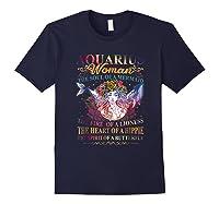 Aquarius Woman The Soul Of A Mermaid T Shirt Birthday Tees Navy