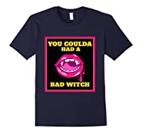 Lips You Coulda Had A Bad Witch Funny Halloween Gift T-shirt Navy
