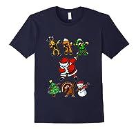 Dabbing Santa Friends Christmas Girls Xmas Gifts Shirts Navy