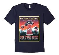 Alien Ufo 5k Fun Run Storm Area 51 Shirts Navy