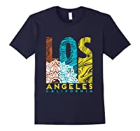 Los Angeles Shirt California City Los Angeles T Shirt Navy