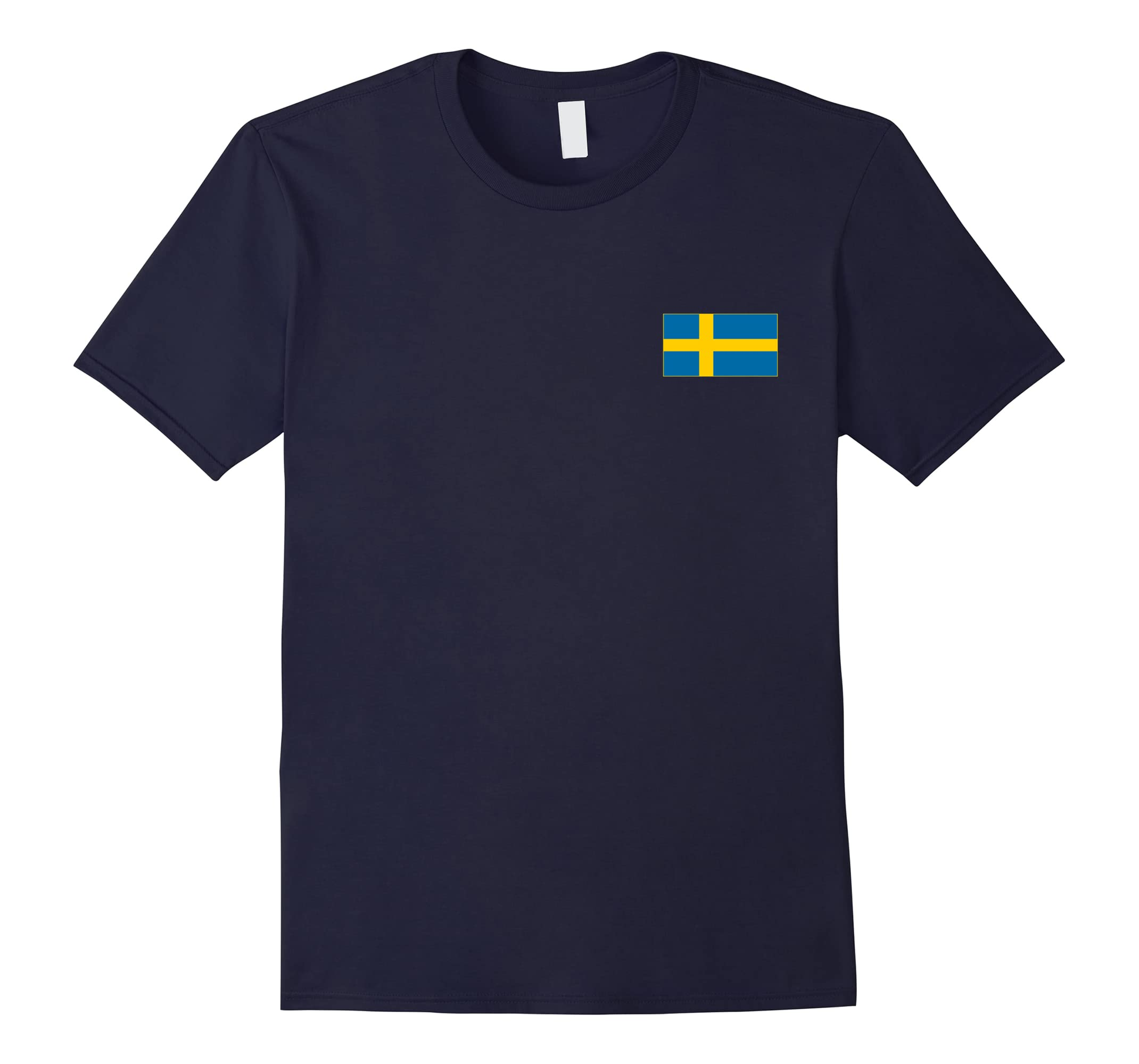 Sweden T-Shirt Flag Pocket Cool Sverige Swedish Gift Top Tee-RT