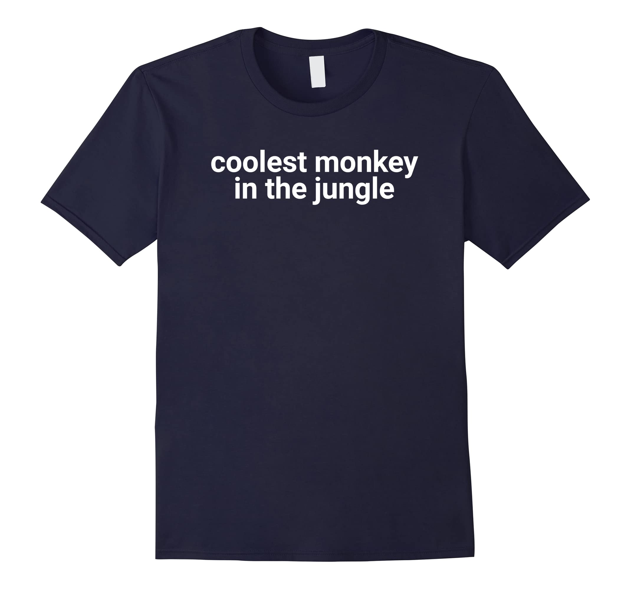 Coolest Monkey in the Jungle - Funny Pun Gag T-Shirt-RT