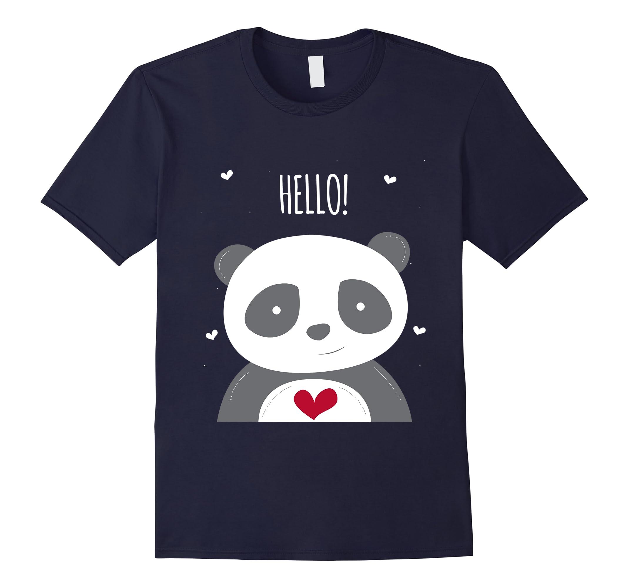 Hello Panda Red Heart Shirt-Newstyleth