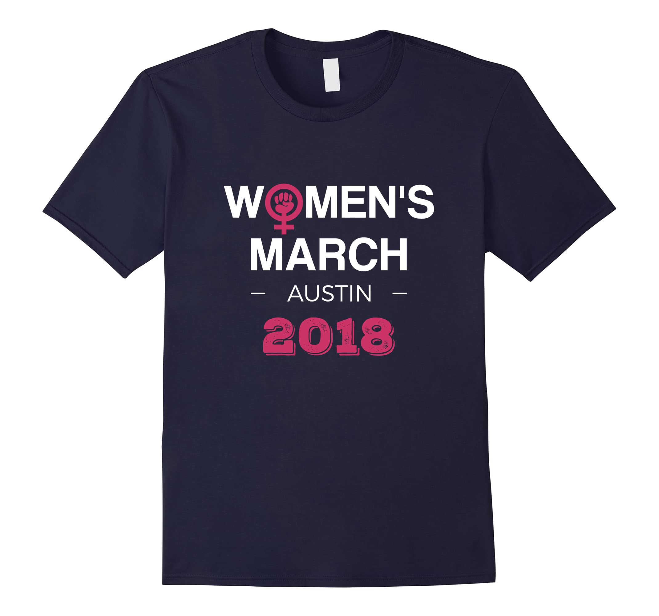 Austin Women's March 2018 T-shirt Feminism Symbol Design-RT