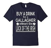 Gallagher Luck Of The Irish Namesake Family Gift T Shirt Navy