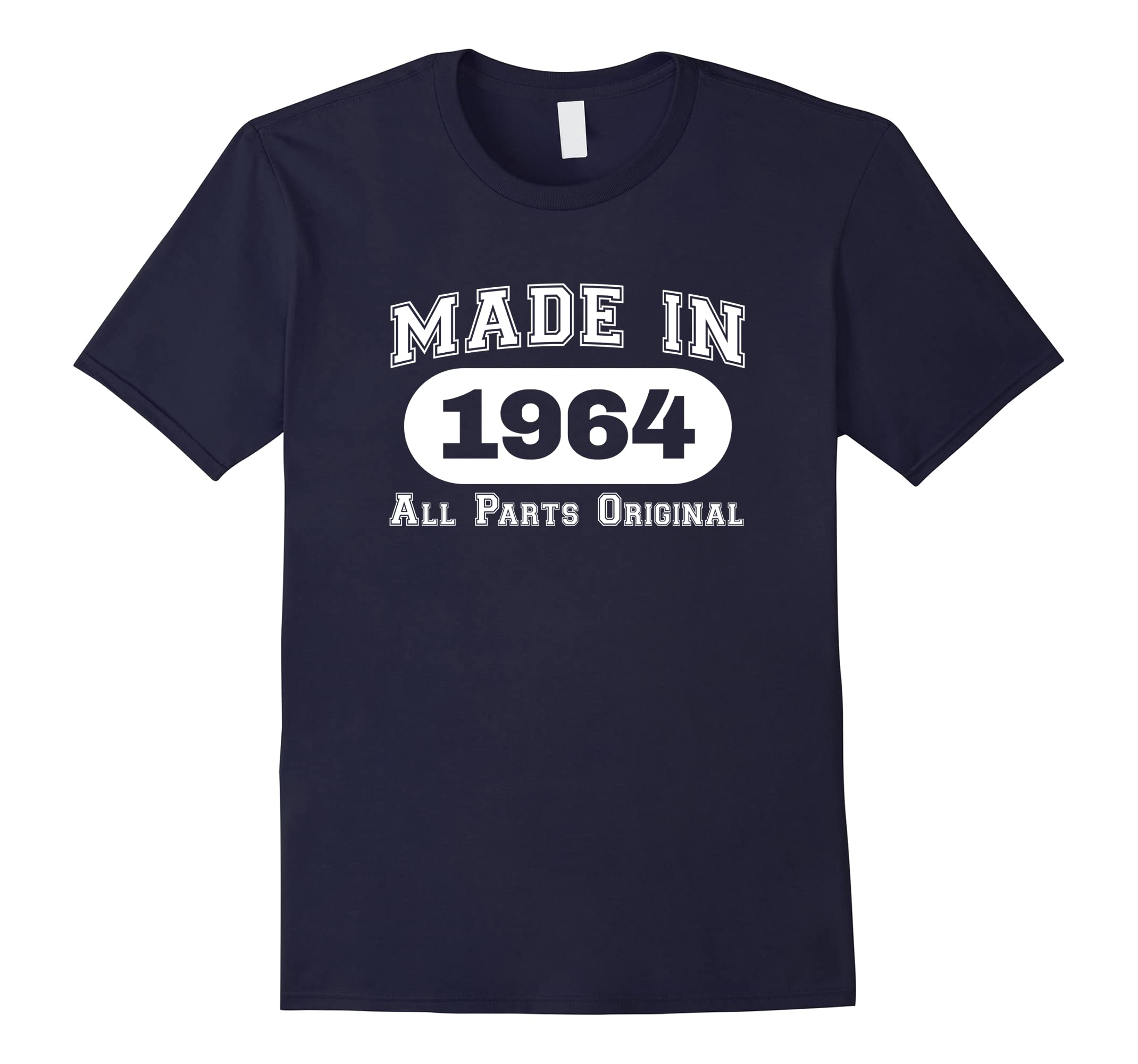 54th Birthday T-Shirt Made In 1964 All Parts Original Tee-RT