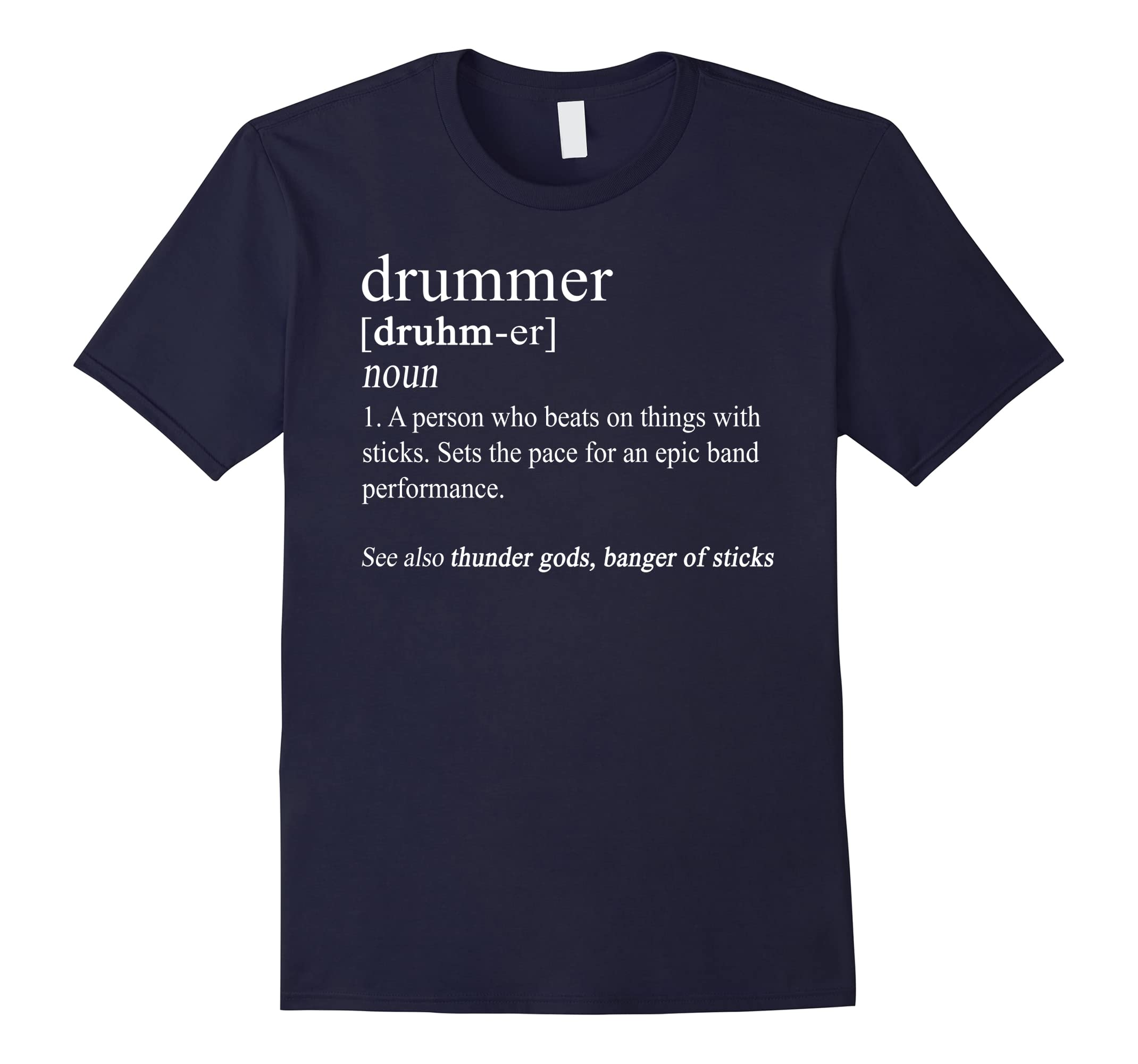 94c85d66f Funny Drummer Shirts Drum Gifts Drumming Definition T Shirt-RT ...