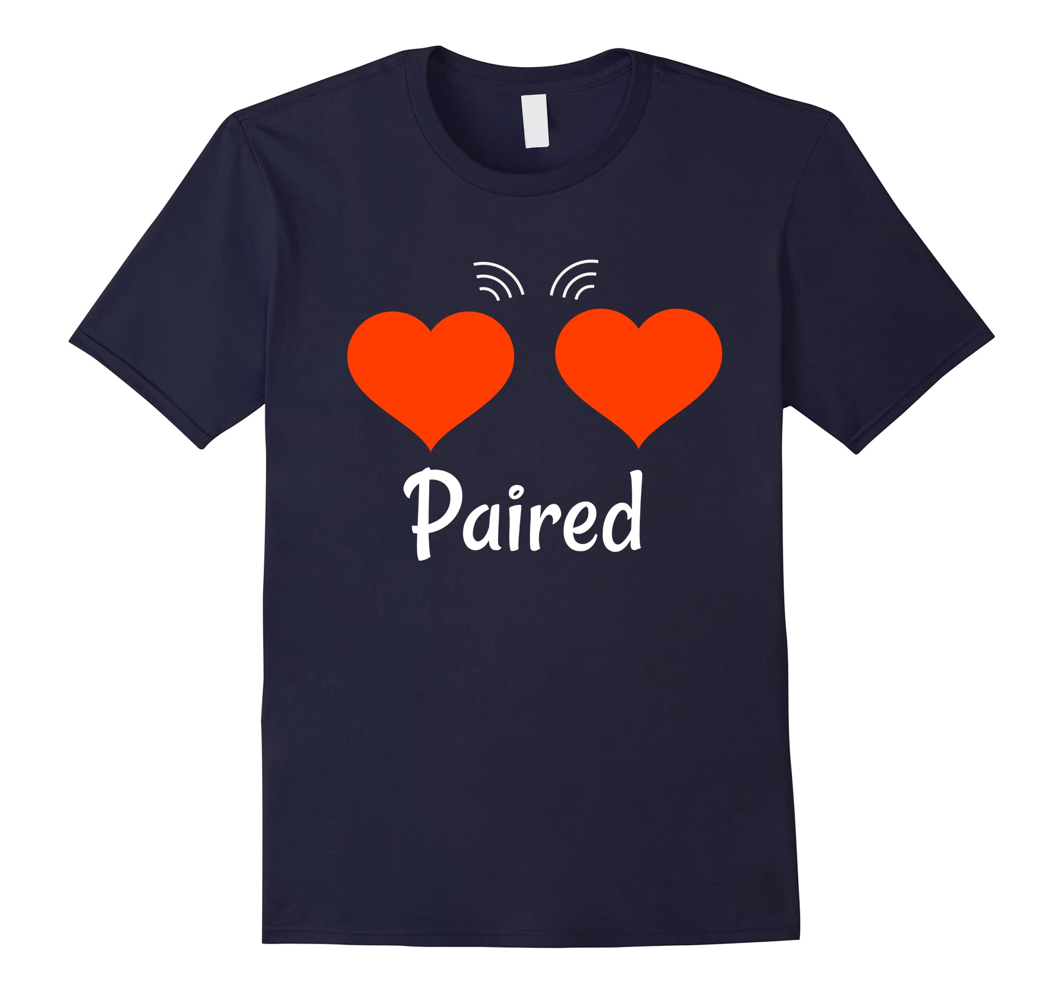 Couples Paired Hearts Valentine's Day T-Shirt-ah my shirt one gift