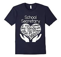 School Secretary Clerk Office Heart Group Gift Shirts Navy