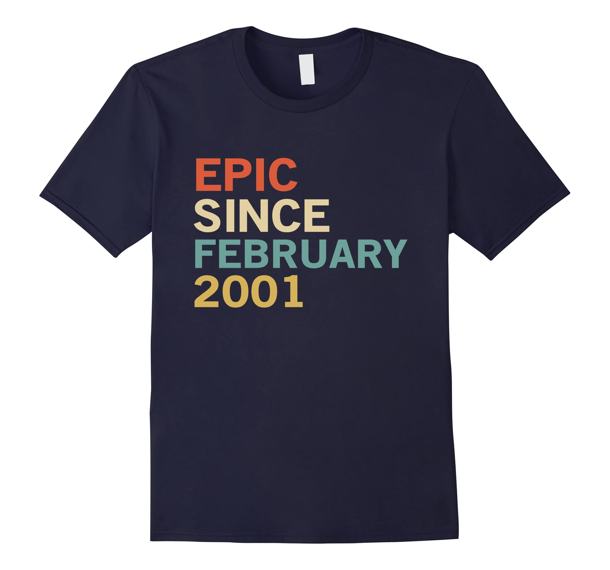 17th Birthday Gift Tee, Epic Since February 2001 T-Shirt-RT