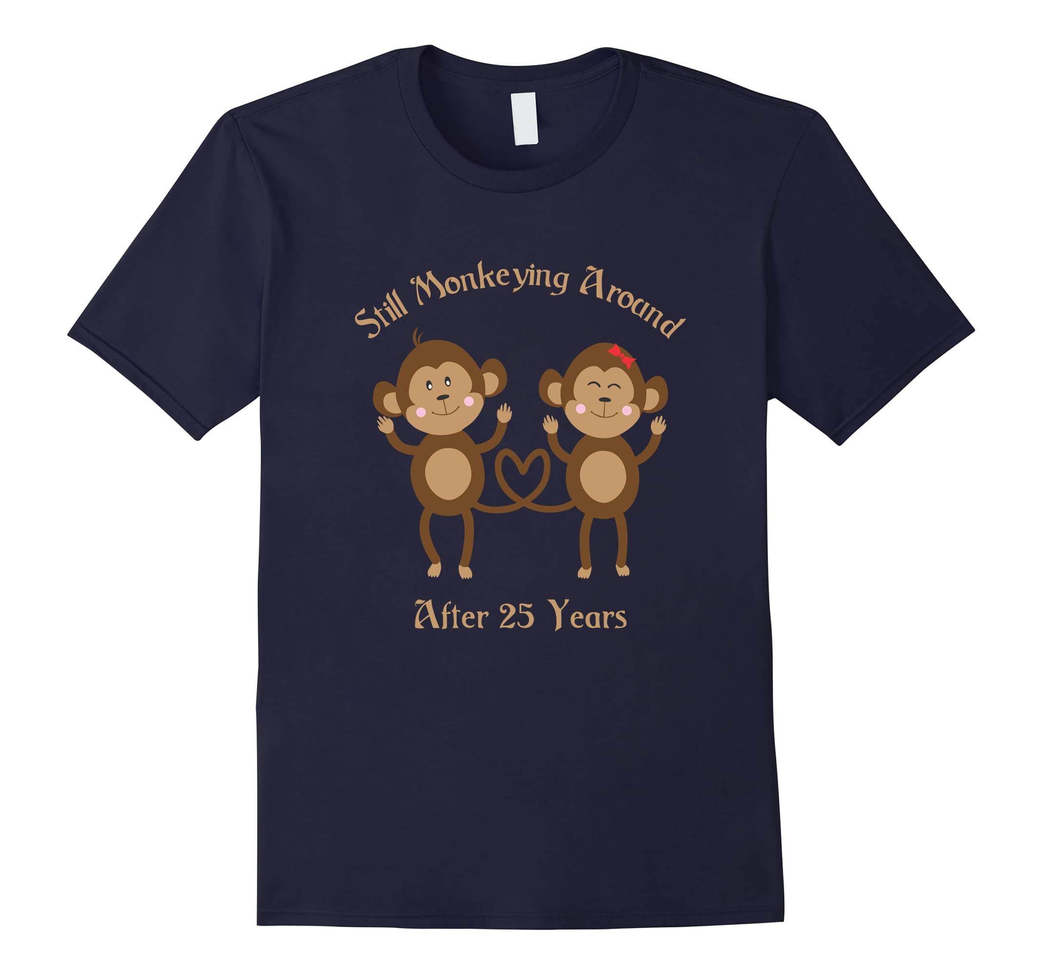 25th Wedding Anniversary Tshirt - 25 years Vintage Gift-ah my shirt one gift
