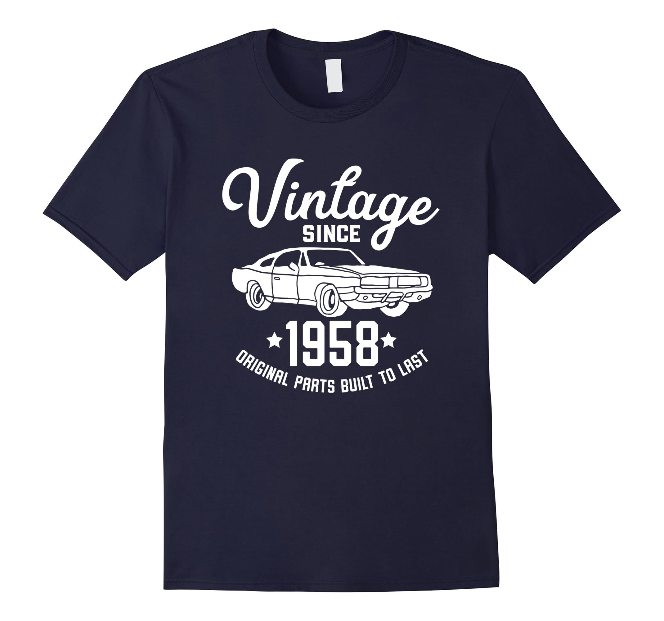 60th Birthday 1958 Classic Car American Muscle Men Tshirt-ah my shirt one gift