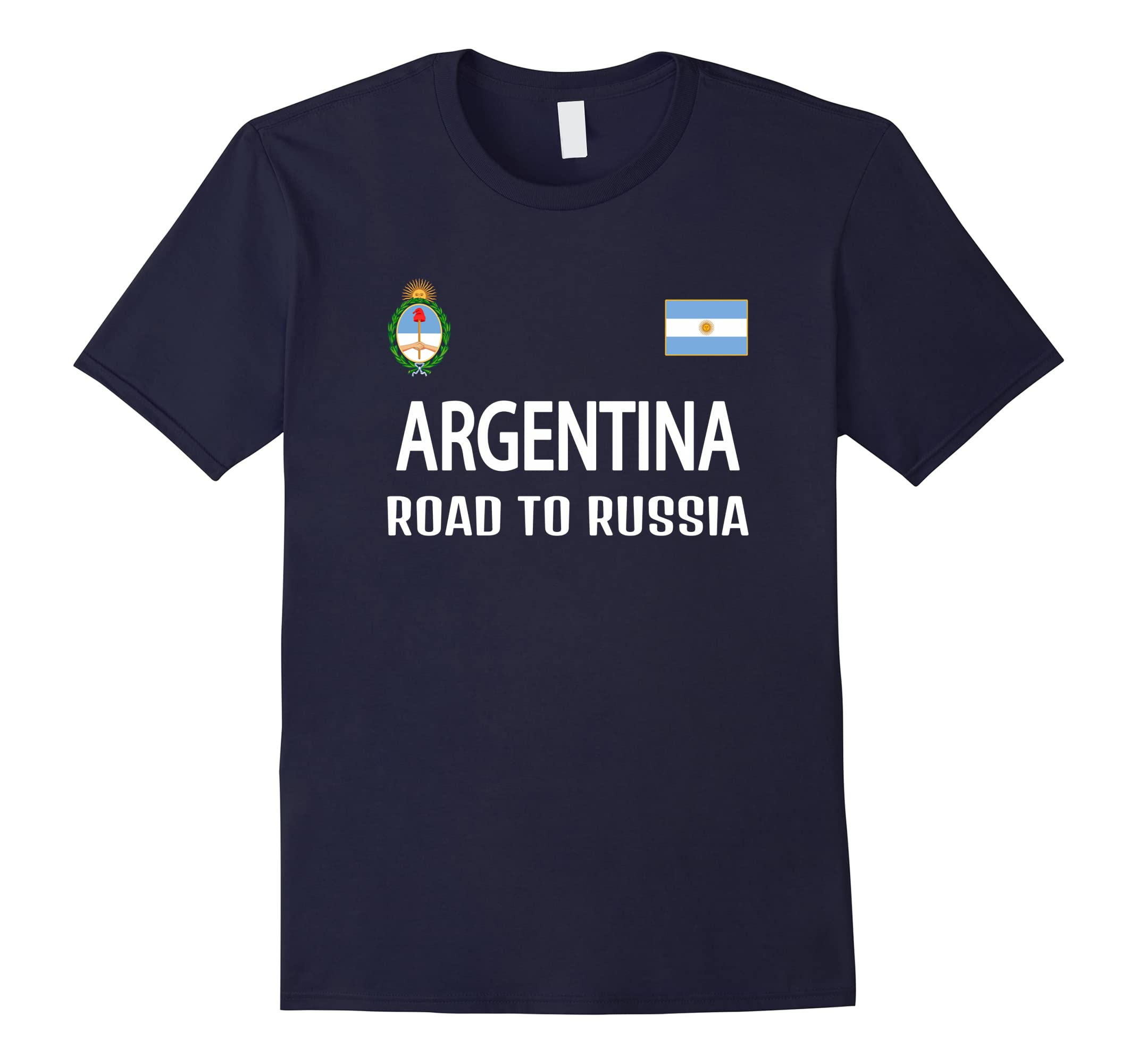 Argentina road to Russia T-shirt Men Women Kids Soccer-RT