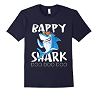 Bappy Shark, Fathers Day Gift From Wife Son Daughter Shirts Navy