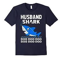Husband Shark Doo Doo Shirt For Matching Family Pajamas Navy