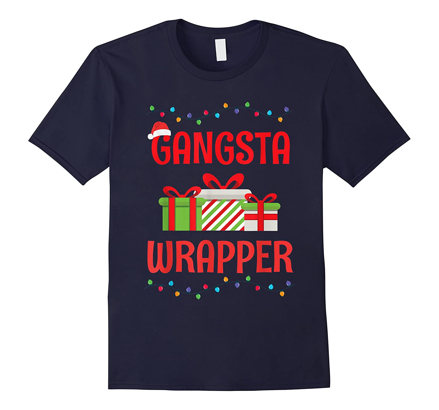 Funny Christmas Gift Gangsta Wrapper Shirts
