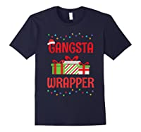 Funny Christmas Gift Gangsta Wrapper Shirts Navy