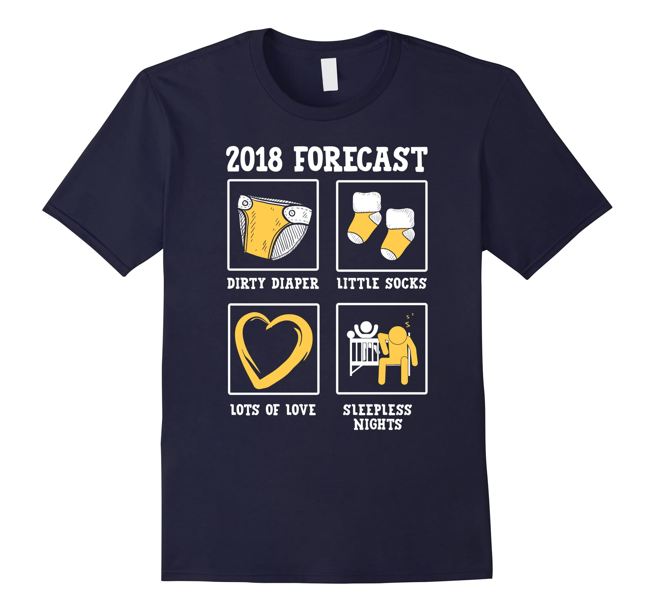 2018 Forecast New Mom Dad Expecting Baby Announcement Shirt-ah my shirt one gift
