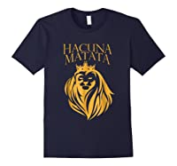 \'s Golden Lion King-hakuna Matata Tshirt-premium Quality Navy