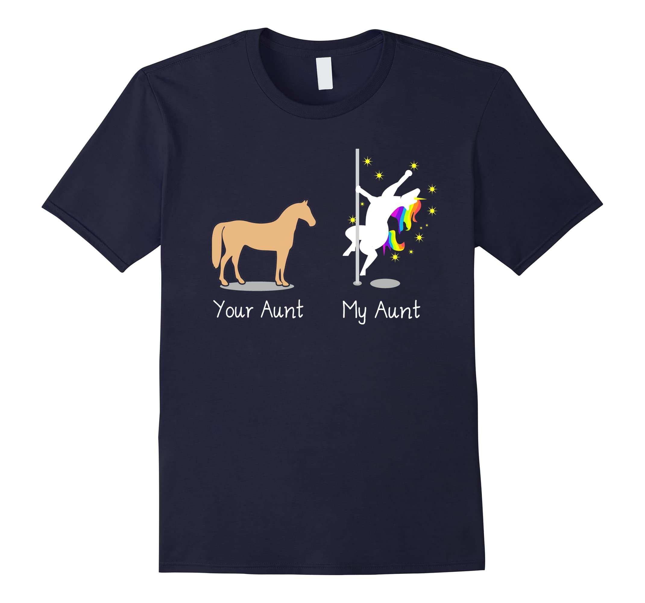 Your Aunt My Aunt Funny Unicorn Shirts for Women Auntie Tee-RT