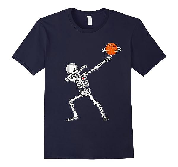 Get Here Dabbing Skeleton Basketball Funny Halloween Dab Dance T Shirt