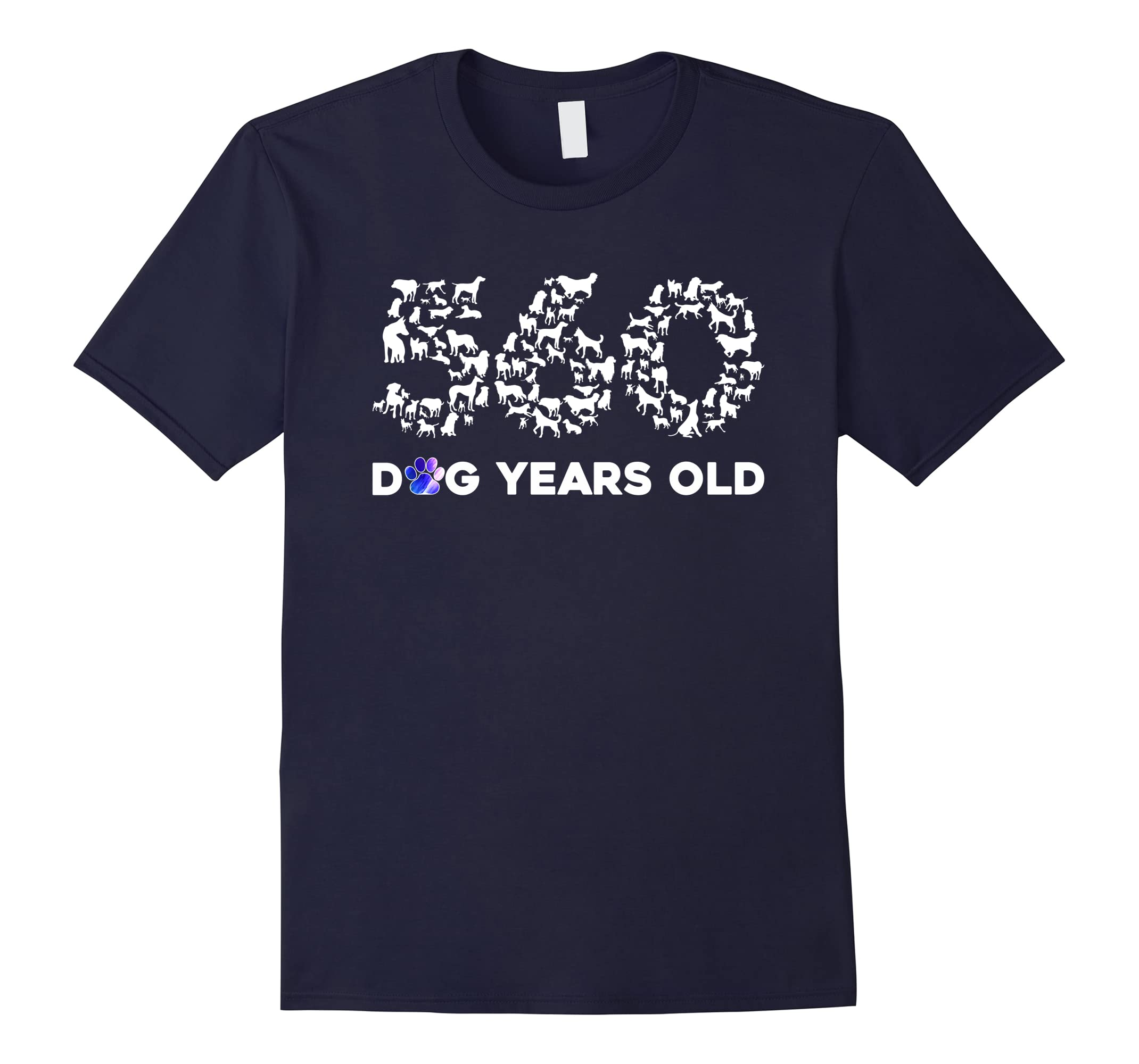 80th Birthday T Shirt Funny 560 Dog Years Old Gift Tees-RT