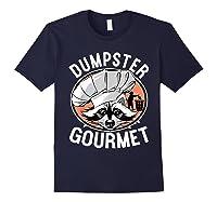 Funny Raccoon Dumpster Gourmet Shirts Navy