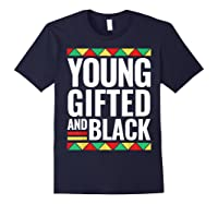 Black History Gifted Shirts Navy
