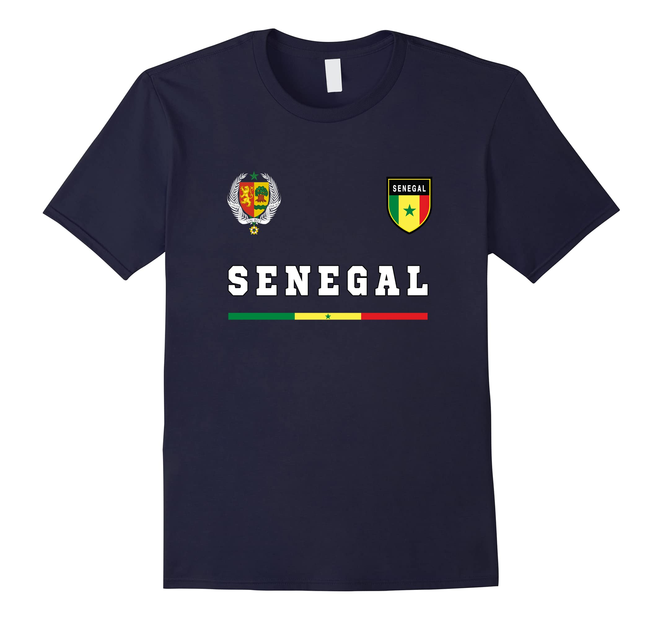 Senegal Soccer T-Shirt Retro Football Jersey Tee Sport-ah my shirt one gift