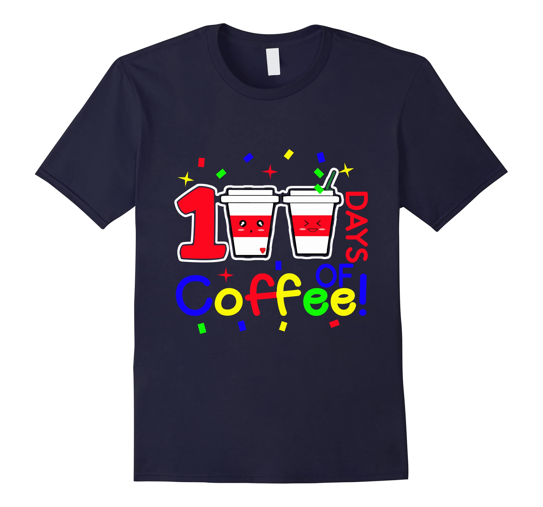 100 Days of Coffee! 100th Day of School Smarter Tshirt-ah my shirt one gift