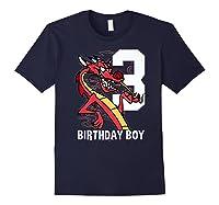 Mulan 3rd Birthday Boy Mushu Portrait Shirts Navy