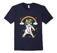 Lgbt Pride Month Unicorn Funny Rainbow Gay & Lesbian Gift Tank Top Shirts Navy