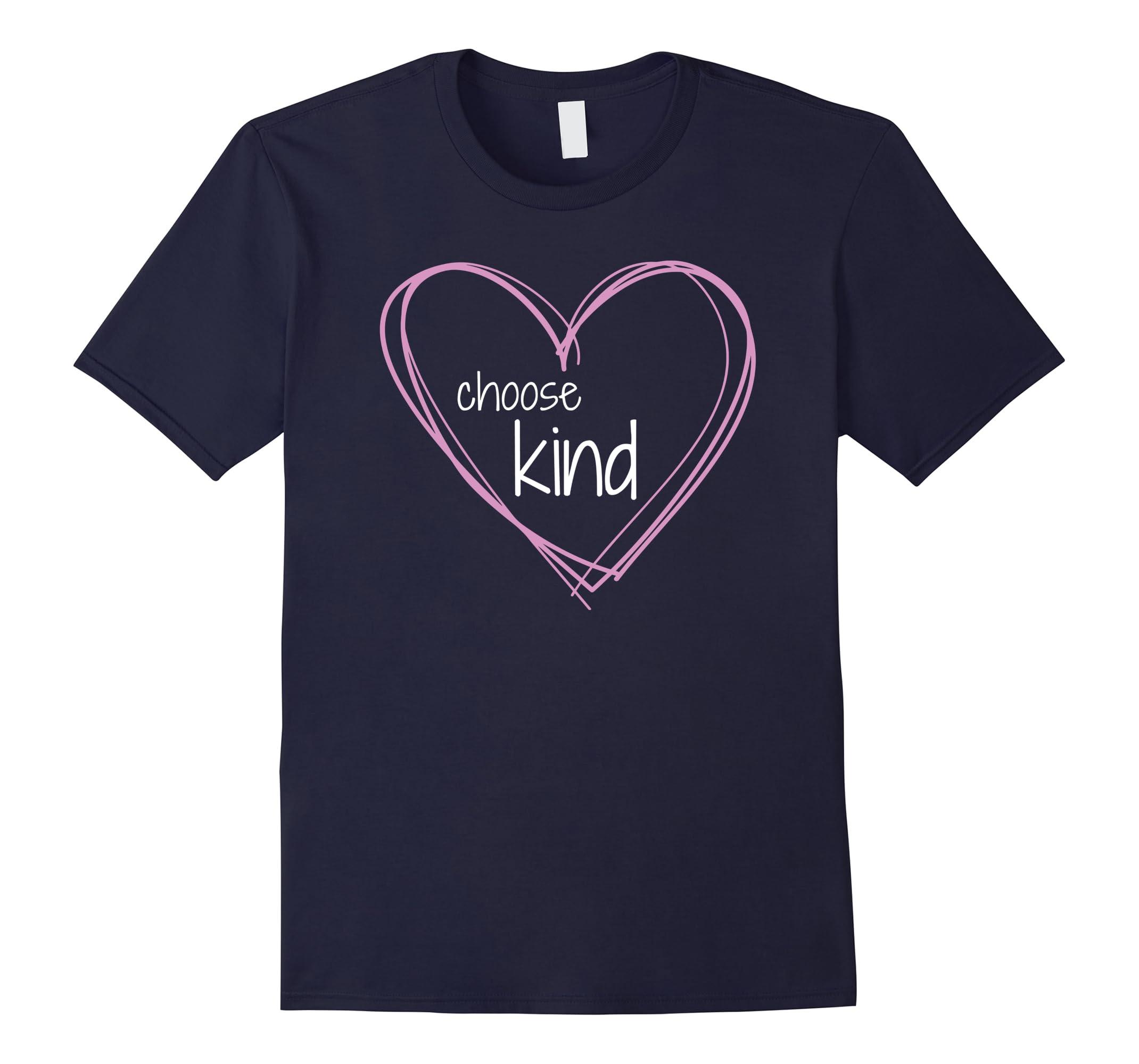 Choose Kind Anti Bullying T Shirt Hearts-Newstyleth