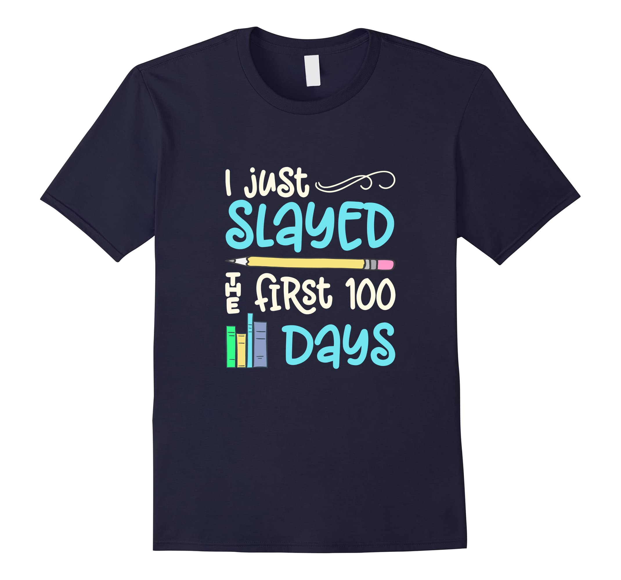 100 Days School Shirt For Teachers Students Book Graphic Tee-ah my shirt one gift