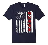 Patriotic American Usa Flag Correctional & Rn Nurse Tshirt Navy