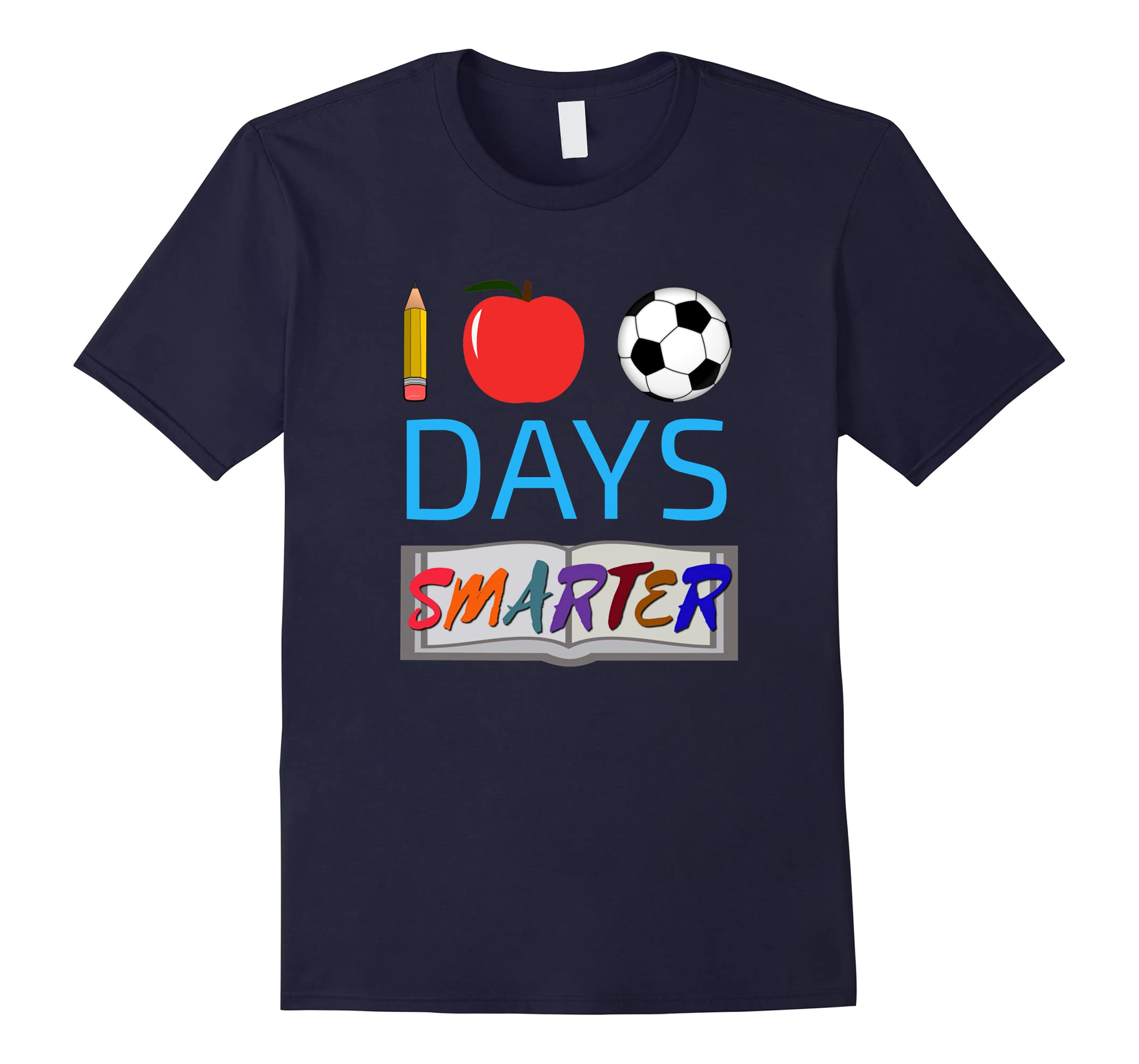 100 Days Smarter For Kids 100th Day of School T Shirt-ah my shirt one gift