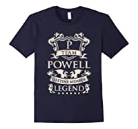 Team Powell Last Name Gifts Vintage Legend Family Tshirt Navy