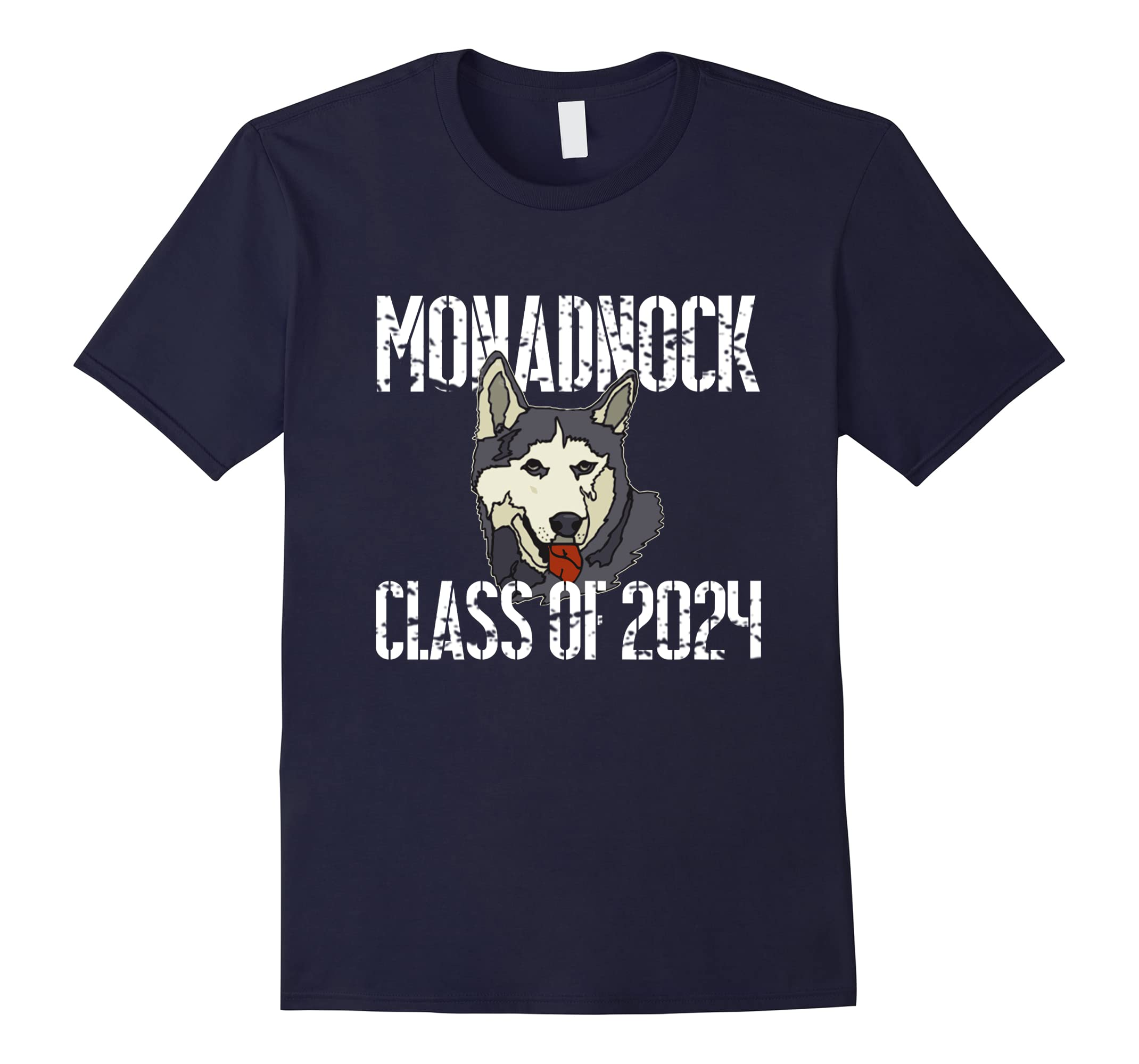 Monadnock Class Of 2024 T Shirt Distressed White Text-RT