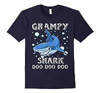 Grampy Shark Shirt Fathers Day Gift T-shirt Navy