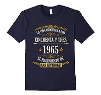 Birthday T Shirt Gift For Latino Born In 1965 Navy