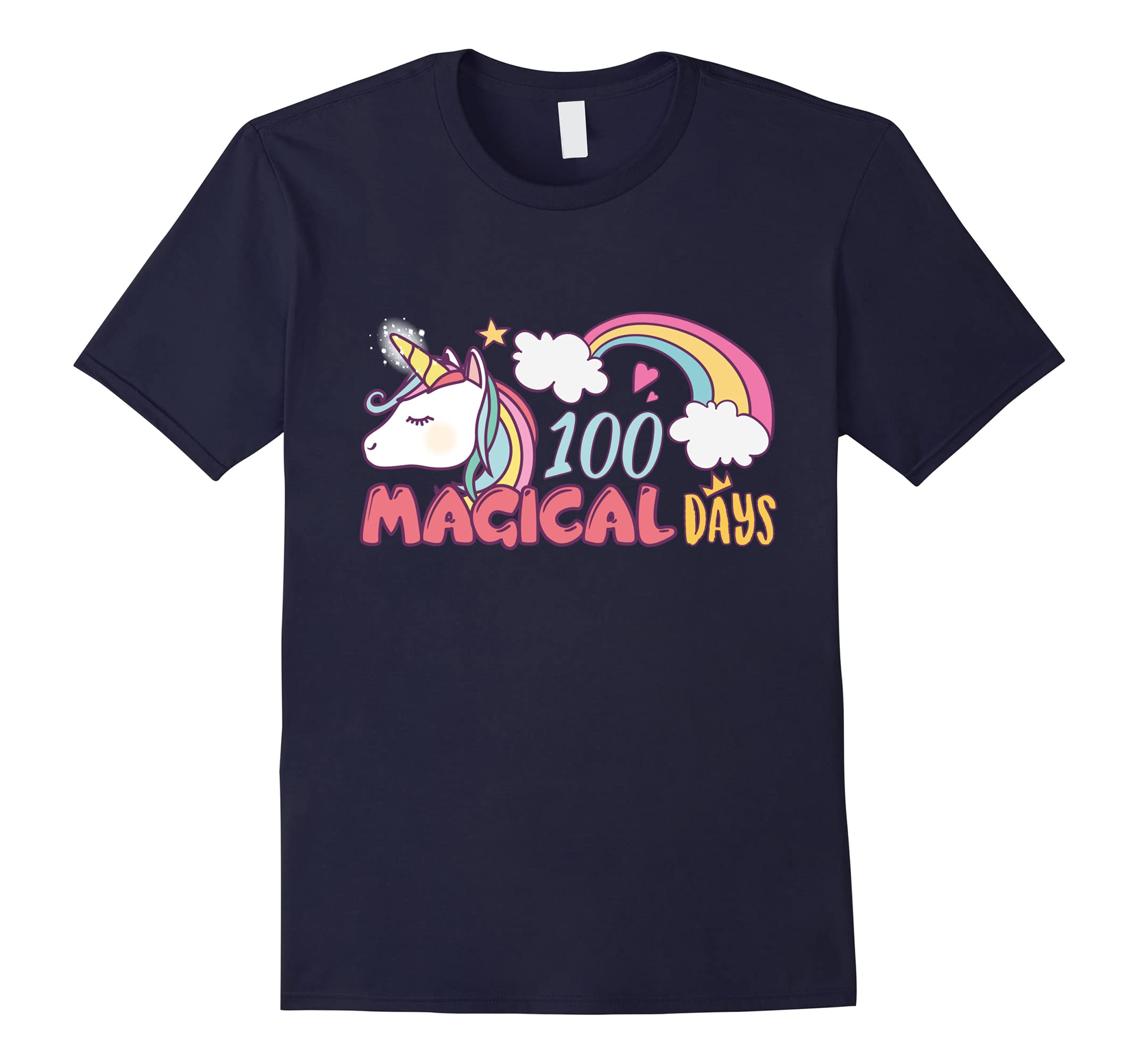100th Day Of School Unicorn Funny Shirt Kids Girls Student-ah my shirt one gift